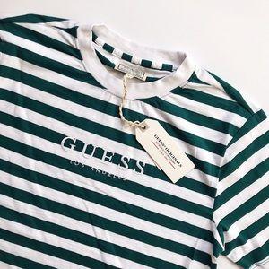 Guess Originals forest green stripe